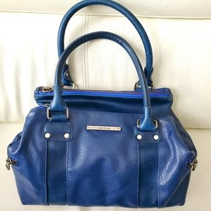 Matt & Nat blue 2-zip satchel